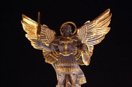 angel de la independencia: Angel de Kiev  Foto de archivo