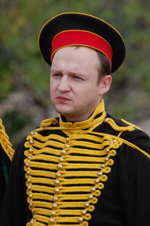 cavalry:  Russian uniform of cavalry. Kievs hussar regiment. Crimean War time