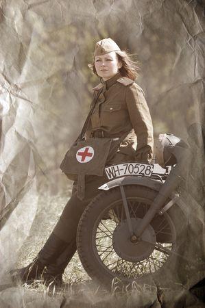 reenacting: Armata rossa. Paramedic militare. WW2 reenacting