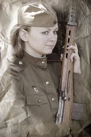 Red Army. Military paramedic. WW2 reenacting  photo