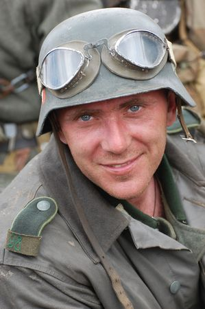 German soldier.WW2 historical reenactment photo