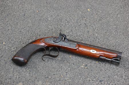 dueling: antique handgun