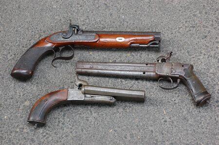 antique handguns  photo