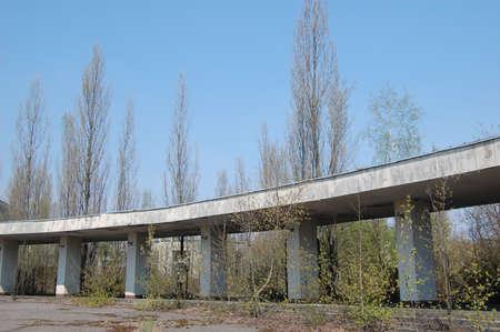Chernobyl area. Lost city Pripyat. Modern ruins. Ukraine. Kiev region. Stock Photo - 8328016