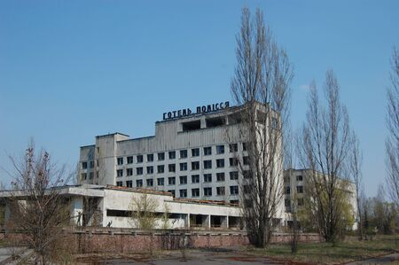 APR. 25,2009 Chernobyl area. Lost city Pripyat. Modern ruins. Ukraine. Kiev region.April 25,2009  Stock Photo - 8409873