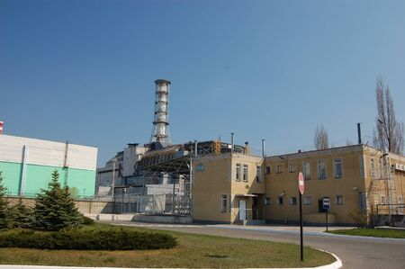 APR. 25,2009 Chernobyl power plant. Ukraine. Kiev region.April 25,2009  Stock Photo - 8409846