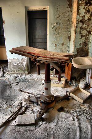 APR. 25,2009 Chernobyl area. Lost city Pripyat. Modern ruins. Hospital.Ukraine. Kiev region.April 25,2009 Stock Photo - 8409936