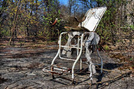 APR. 25,2009 Chernobyl area. Lost city Pripyat. Modern ruins. Hospital.Ukraine. Kiev region.April 25,2009