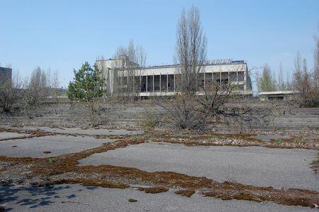 APR. 25,2009 Chernobyl area. Lost city Pripyat. Modern ruins. Ukraine. Kiev region.April 25,2009