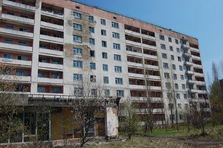APR. 25,2009 Chernobyl area. Lost city Pripyat. Modern ruins. Ukraine. Kiev region.April 25,2009  Stock Photo - 8410117