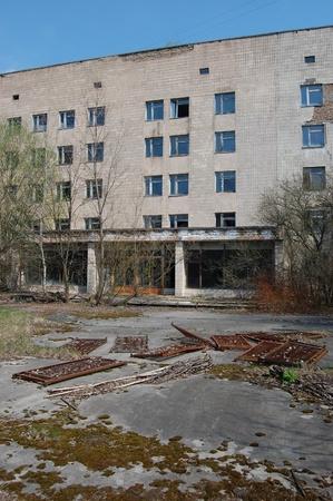 APR. 25,2009 Chernobyl area. Lost city Pripyat. Modern ruins. Hospital.Ukraine. Kiev region.April 25,2009  Stock Photo - 8410119