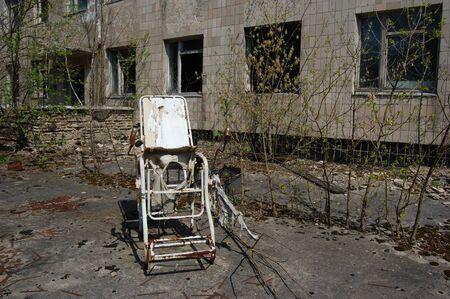 PR. 25,2009 Chernobyl area. Lost city Pripyat. Modern ruins. Ukraine. Kiev region.April 25,2009