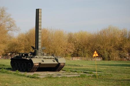 APR. 25,2009 Chernobyl. Museum of machines,used at time of nuclear disaster in 1986. Kiev region,Ukraine . Kiev region.April 25,2009