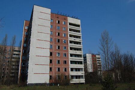 APR. 25,2009 Chernobyl area. Lost city Pripyat. Modern ruins. Ukraine. Kiev region.April 25,2009    Stock Photo - 8491707