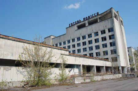 APR. 25,2009 Chernobyl area. Lost city Pripyat. Modern ruins. Ukraine. Kiev region.April 25,2009    Stock Photo - 8491724