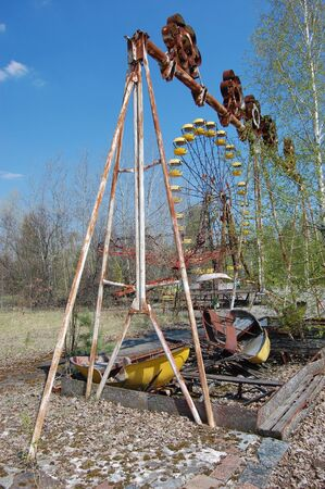 APR. 25,2009 Chernobyl area. Lost city Pripyat. Modern ruins. Ukraine. Kiev region.April 25,2009    Stock Photo - 8491755