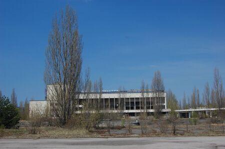 APR. 25,2009 Chernobyl area. Lost city Pripyat. Modern ruins. Ukraine. Kiev region.April 25,2009    Stock Photo - 8491692