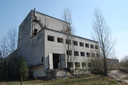 APR. 25,2009 Chernobyl area. Lost city Pripyat. Modern ruins. Ukraine. Kiev region.April 25,2009    Stock Photo - 8491722