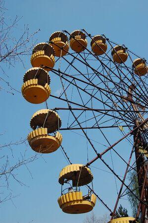 APR. 25,2009 Chernobyl area. Lost city Pripyat. Modern ruins. Ukraine. Kiev region.April 25,2009    Stock Photo - 8491708