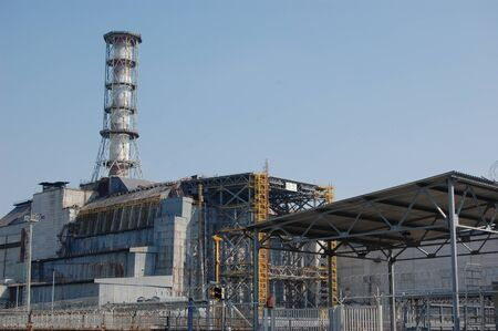 APR. 25,2009 Chernobyl power plant. Ukraine. Kiev region.April 25,2009    Stock Photo - 8491682