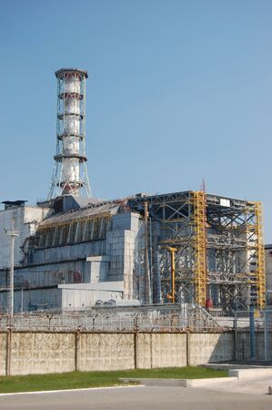 APR. 25,2009 Chernobyl power plant. Ukraine. Kiev region.April 25,2009    Stock Photo - 8491705