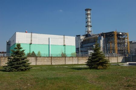 APR. 25,2009 Chernobyl power plant. Ukraine. Kiev region.April 25,2009    Stock Photo - 8491721