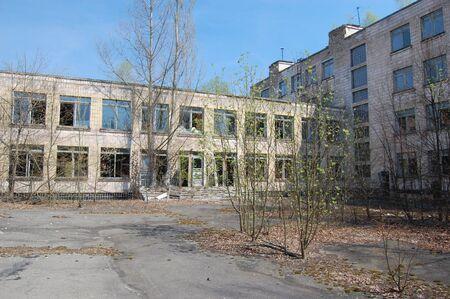 APR. 25,2009 Chernobyl area. Lost city Pripyat. Modern ruins. Ukraine. Kiev region.April 25,2009    Stock Photo - 8500818