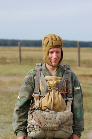 chernigow: CHERNIGOW, UKRAINE - AUG 29: An unidentified member of Red Star military history club wears historical German uniform during historical reenactment of WWII, August 29, 2010 in Chernigow, Ukraine