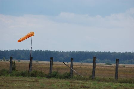 Windsock. Instrument for measuring wind speed and direction photo