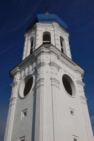 Bell tower. Russian orthodox church in Kiev  photo