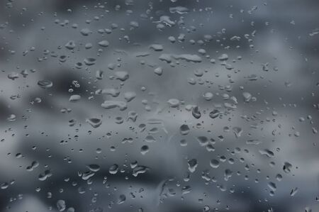 Water drops on window. Abstraction Stock Photo - 8816929