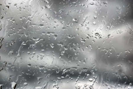 Water drops on window. Abstraction  photo