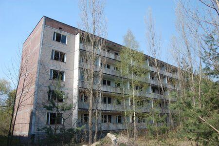 APR. 25,2009 Chernobyl area. Lost city Pripyat. Modern ruins. Ukraine. Kiev region.April 25,2009    Editorial