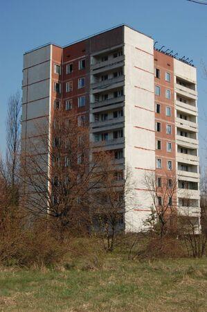 environmentalline: APR. 25,2009 Chernobyl area. Lost city Pripyat. Modern ruins. Ukraine. Kiev region.April 25,2009    Editorial