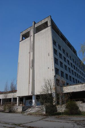 APR. 25,2009 Chernobyl area. Lost city Pripyat. Modern ruins. Ukraine. Kiev region.April 25,2009