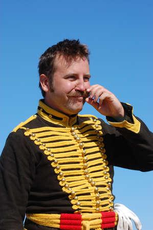 regiment: Russian Hussar. Kievs Hussar Regiment. Crimean War time  Stock Photo