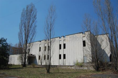 APR. 25,2009 Chernobyl area. Lost city Pripyat. Modern ruins. Ukraine. Kiev region.April 25,2009    Stock Photo - 8836975
