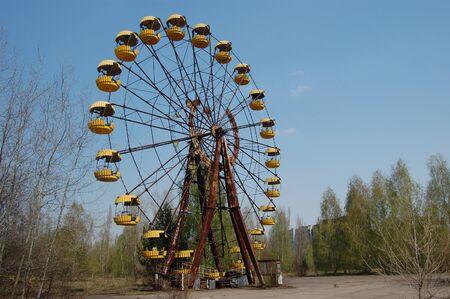APR. 25,2009 Chernobyl area. Lost city Pripyat. Modern ruins. Ukraine. Kiev region.April 25,2009    Stock Photo - 8836973