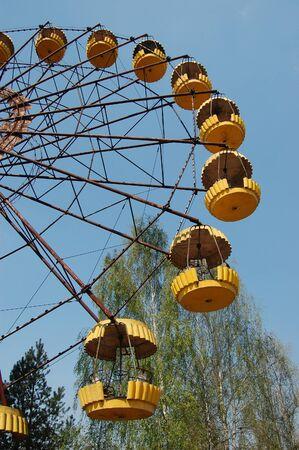 APR. 25,2009 Chernobyl area. Lost city Pripyat. Modern ruins. Ukraine. Kiev region.April 25,2009    Stock Photo - 8836977