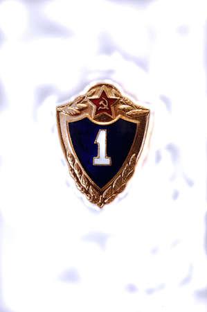 Soviet badge. First class soldier photo