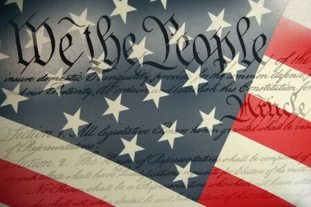government: US CONSTITUTION Stock Photo