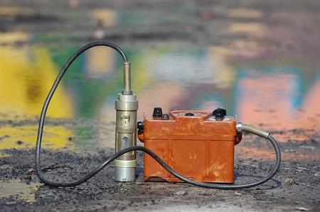 chernobyl: Military radiometer. Stock Photo