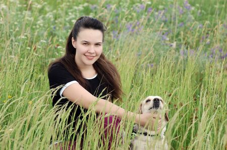 Teenager girl outdoor. Near Kiev,Ukraine photo