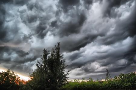 Dramatic stormy clouds .Kiev,Ukraine  photo