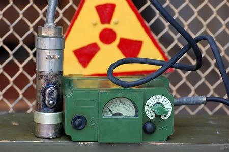 JULY 22,2011.Old Soviet military radiometer. DP-5B . Near Chernobyl area,Ukraine Stock Photo - 10164841