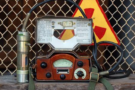 August 12 ,2011.Old Soviet military radiometer. DP-5V . Near Chernobyl area,Ukraine   Stock Photo - 10249647