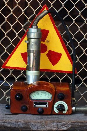 August 12 ,2011.Old Soviet military radiometer. DP-5V . Near Chernobyl area,Ukraine   Stock Photo - 10249646