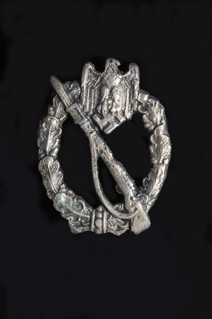 Military archeology. German breastplate (badge) for attack.Found in Ukrainew with metal detector  Stock Photo - 10339894