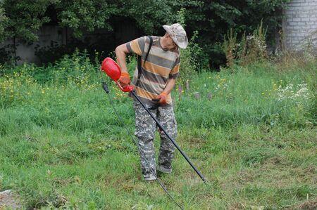 Garden work.Ukraine photo