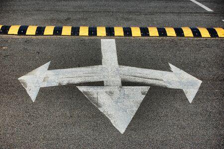 Arrows on the  parking in Kiev,Ukraine Stock Photo - 10482373